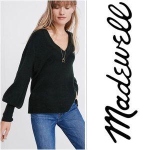 Madewell gray puff sleeve sweater XL